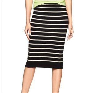 GAP small striped wool sweater skirt